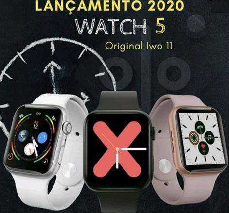 Relogio Feminino SmartWatch Iwo11 40mm compatível Iphone Samsung 2020 Rosa