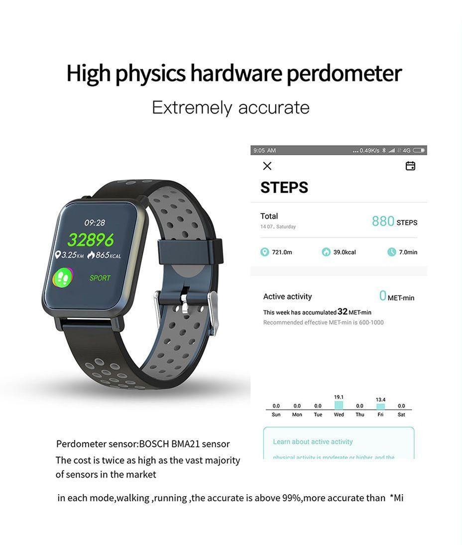 Relógio Inteligente B1 SmartWatch  Bluetooth, Facebook Whatsapp Esportes e Saúde Preto