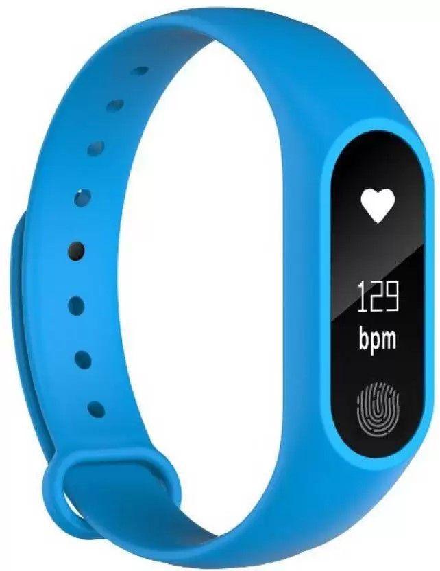Relógio Inteligente Smartband Azul M2 Monitor Cardiaco