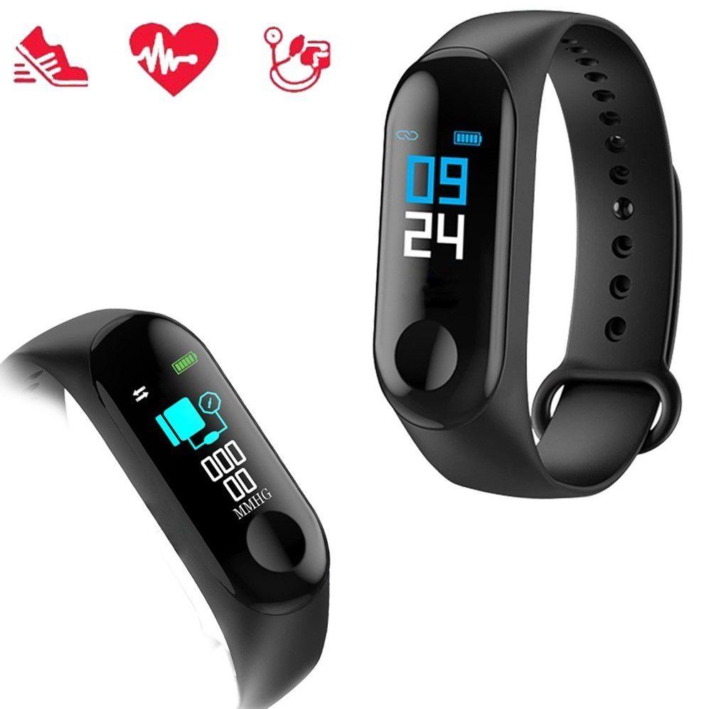 Relógio Inteligente Smartband Bluetooth M3 Monitor Cardiaco