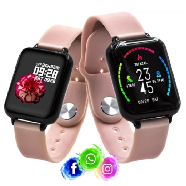 Relogio Inteligente Smartwatch B57 Bluetooth WhatsApp Insta