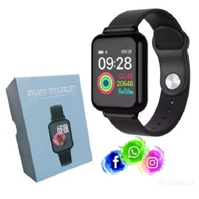 Relogio Inteligente Smartwatch B57 Preto Bluetooth