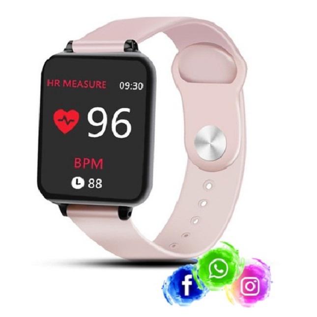 Relogio Inteligente Smartwatch B57 Rosa WhatsApp Instagram