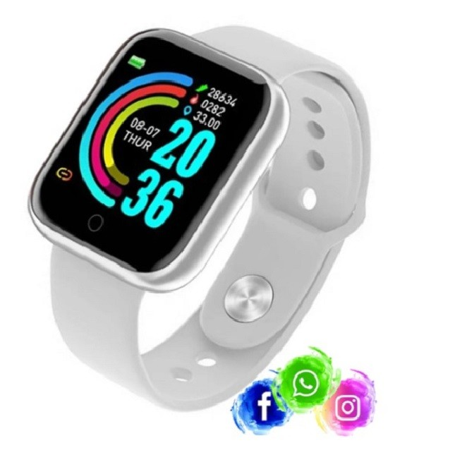 Relogio Inteligente Smartwatch D20 WhatsApp Instagram