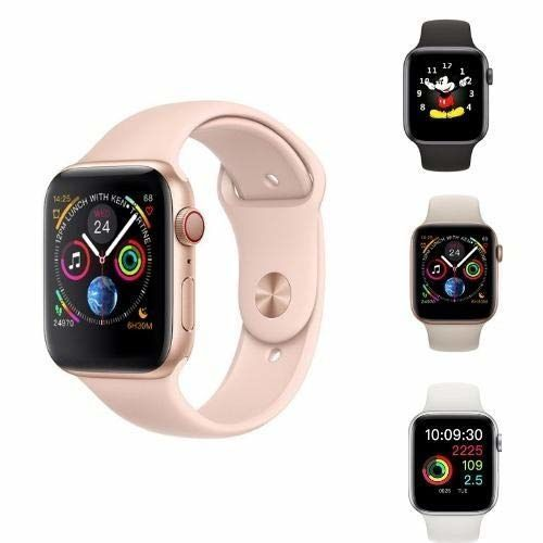 Relogio Inteligente SmartWatch Iwo9 44mm compatível Iphone Samsung 2019 cor Prata
