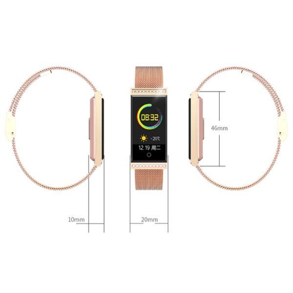 Relogio Inteligente  SmartWatch  Retangular  a prova d agua  Android e IOS Metal Ouro Prata