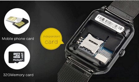 Relógio Inteligente SmartWatch Z60 Pulseira Bluetooth, Notificações Metal Prateado