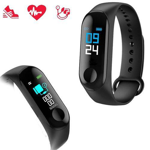 Relógio Inteligente Treino Smartband Bluetooth M3 Monitor Cardiaco