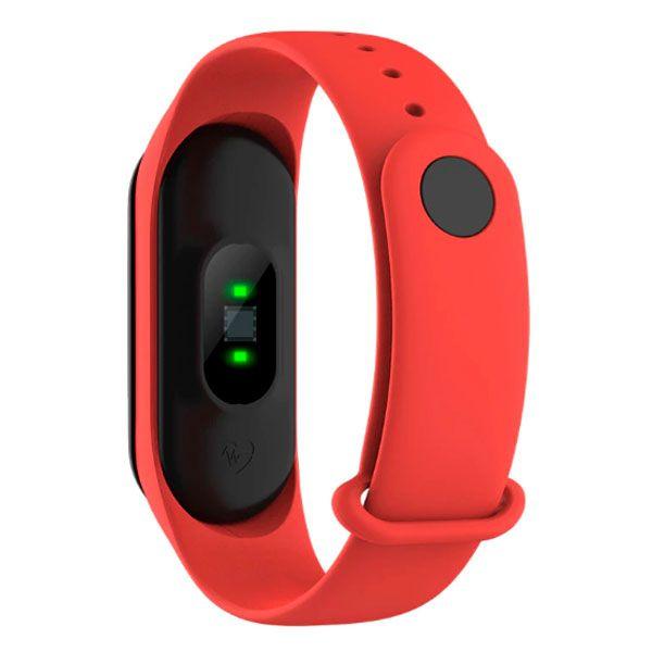 Relógio M3 Inteligente Smartband Monitor Cardíaco Vermelho