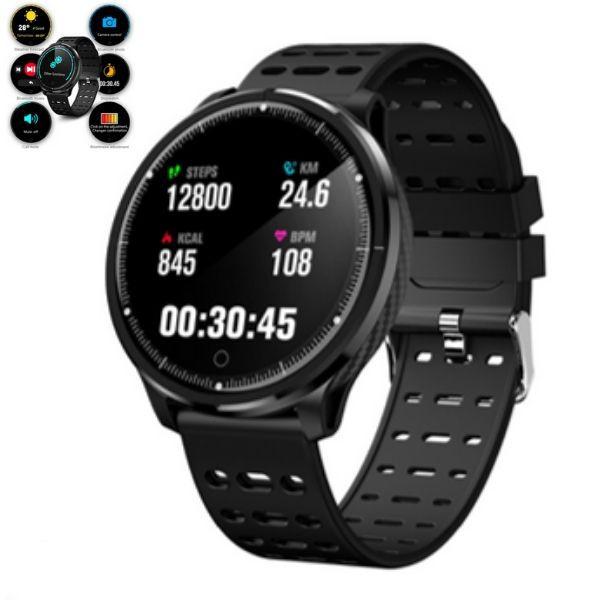 Relógio P71 Inteligente SmartWatch Bluetooth, Facebook Whatsapp Esportes e Saúde Preto