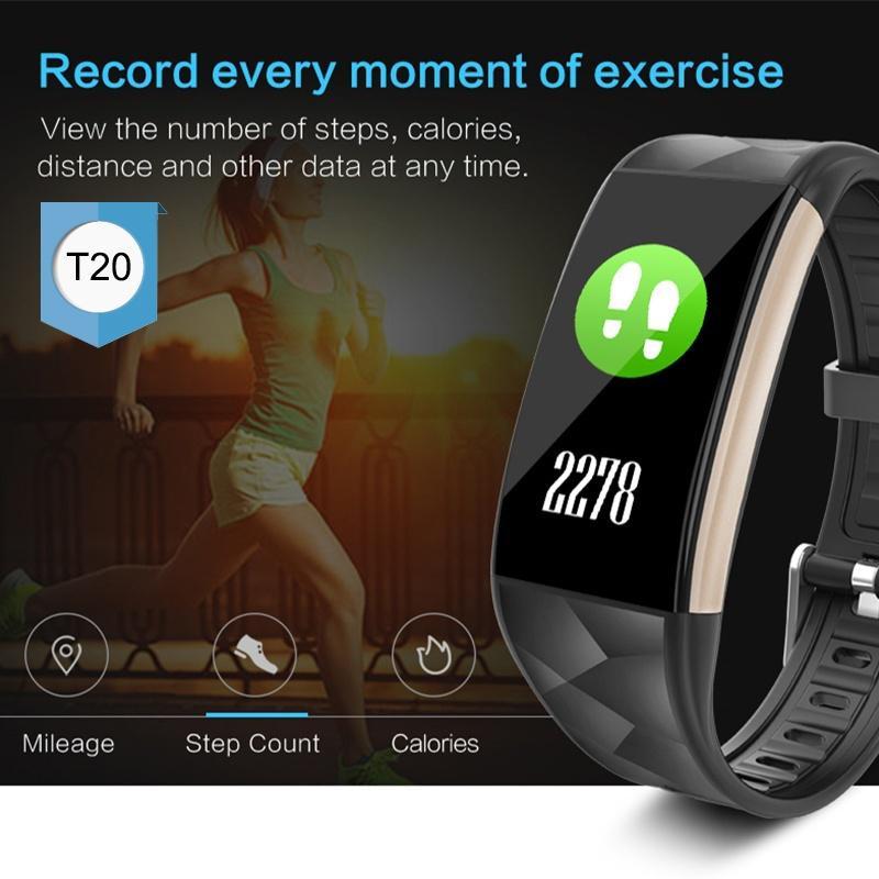 Relogio Pulseira Bracelete Inteligente SmartWatch  T20  Plus Android e IOS Preto