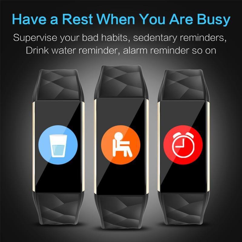 Relogio Pulseira Bracelete Inteligente SmartWatch  T20  Plus Android e IOS Azul