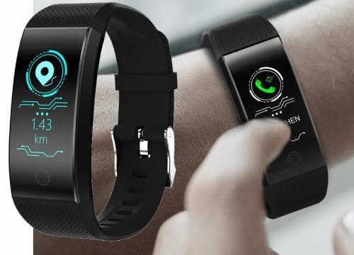 Relógio QW18 Inteligente Smartband  Monitor Cardíaco Tela Colorida  a Prova D agua Rastreador Fitness
