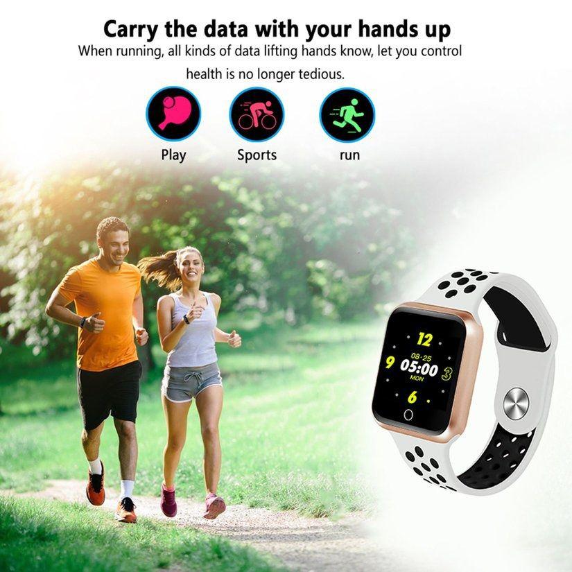 Relógio S226 Smartband Android, Notificações  Bluetooth, Camera Facebook Whatsapp - Dourado