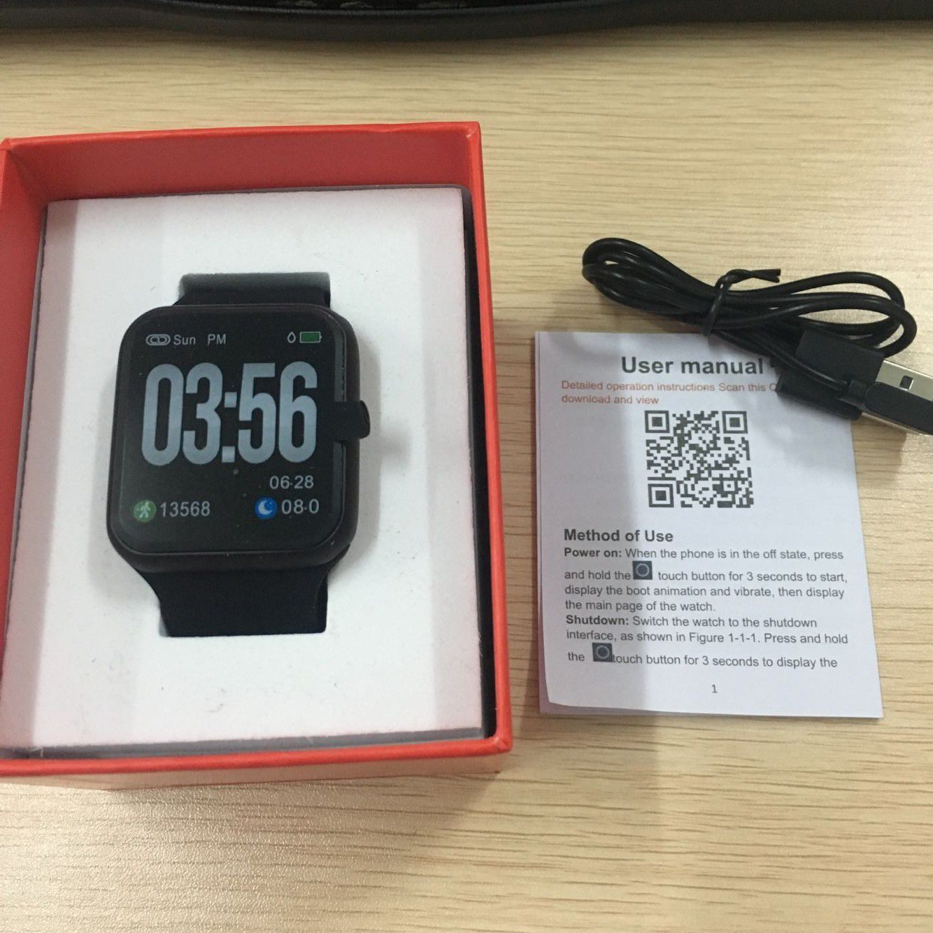 Relógio S226 Smartwatch  Android Notificações  Bluetooth, Camera Facebook Whatsapp - Prata