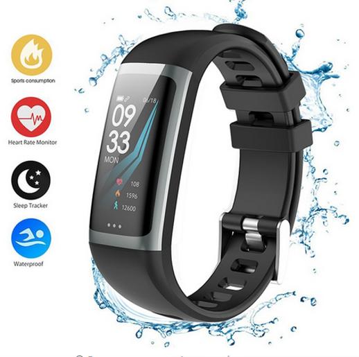 Relógio G26 Smartband Tela HD a Prova d Agua J8 Monitor Cardíaco Pulseira para iOS Android