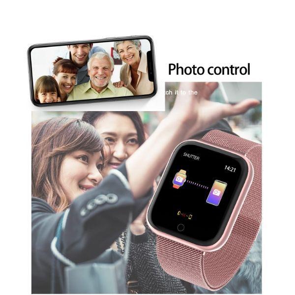 Relogio  Smartband Inteligente P70 Pro Bluetooth Pulseira em Metal Preto