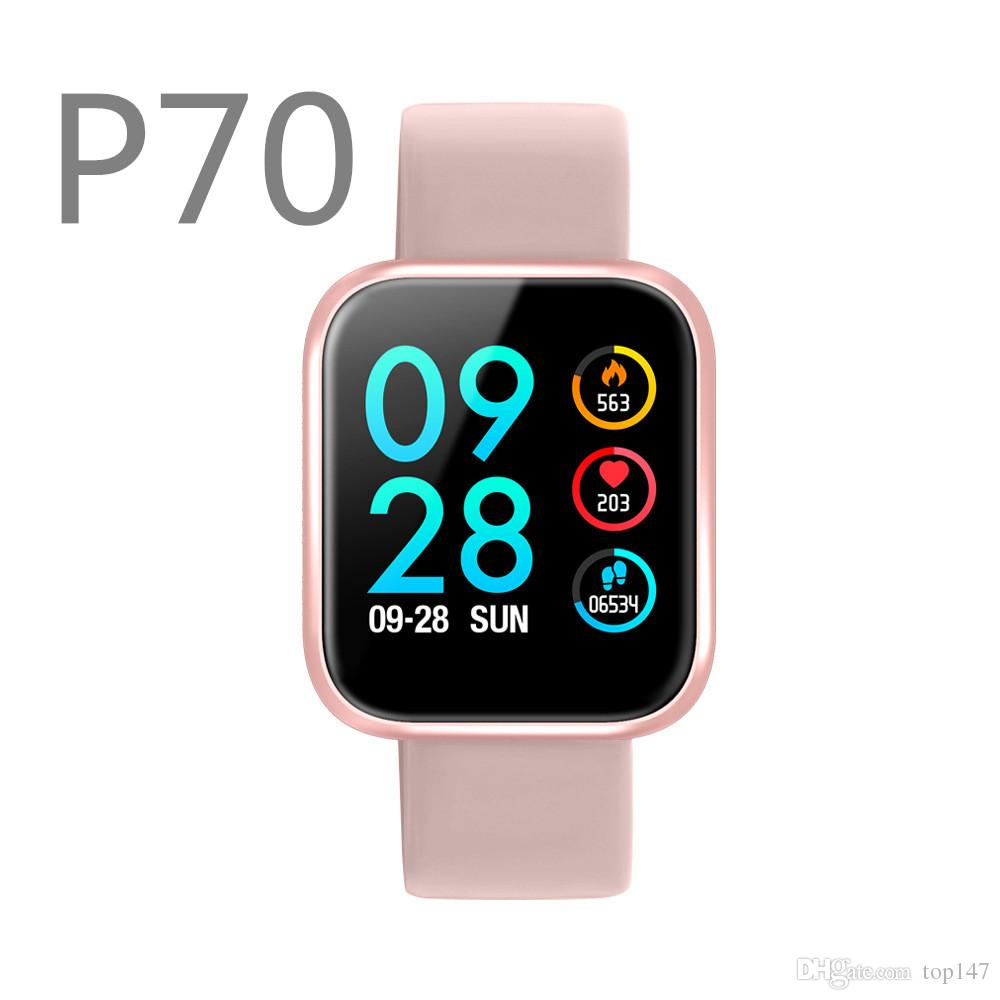 Relogio  Smartband Inteligente P70 Pro Bluetooth Pulseira Preto