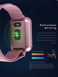Relogio Smartband Inteligente P70 Pro Bluetooth Pulseira em Metal Rosa