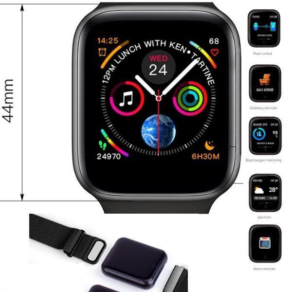 Relogio Smartband P70 Pro Bluetooth Pulseira em Metal Preto