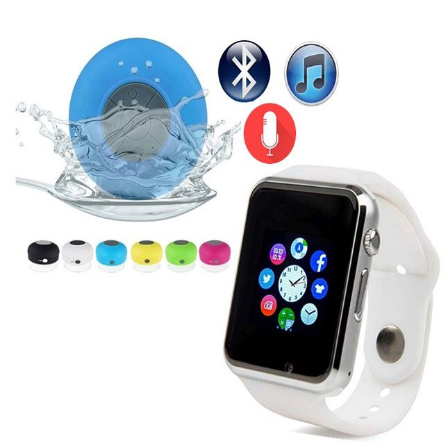 Relógio Smartwatch A1 Android WhatsApp Face Bluetooth Branco - Caixa Som Bluetooth