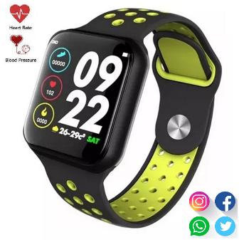 Relógio SmartWatch F8  Whatsapp Facebook Instagran Preto