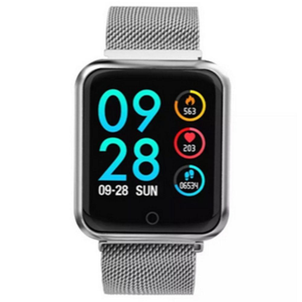 Relogio Smartwatch Inteligente P70 Pro Bluetooth Pulseira em Metal Prata