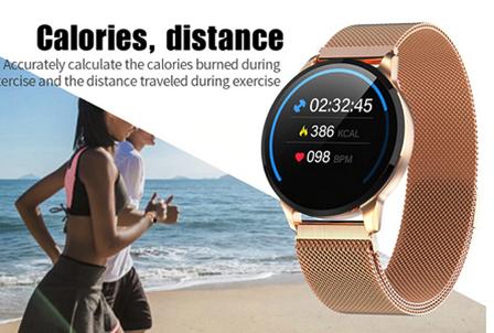 Relógio SmartWatch M8 Feminino Pulseira WhatsApp Face Metal Dourada