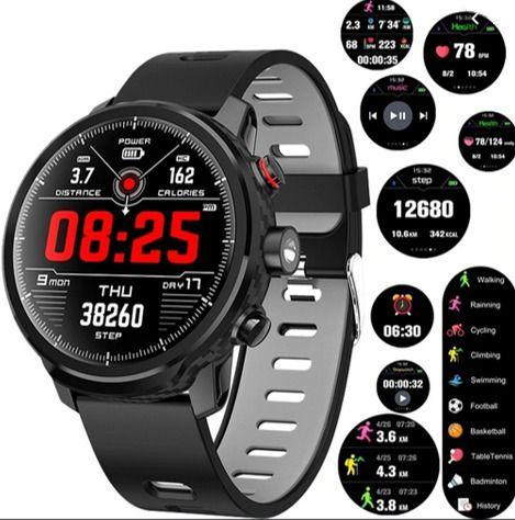 Relógio SmartWatch RBL5 MicroWear Saúde Esportes Rede Sociais e Lanterna