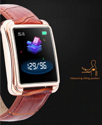 Relógio SmartWatch V60 Executivo Pulseira Metal Whats Face Instagram Dourado