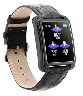 Relógio SmartWatch V60 Executivo Pulseira Metal Whats Face Instagram Preto