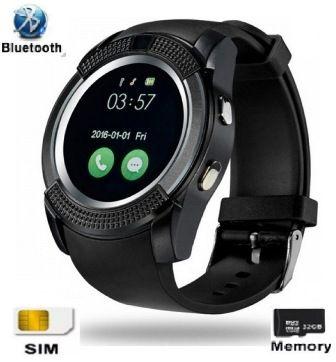 Relógio SmartWatch V8 Bluetooth Câmera Chip Cartão Sd Prata