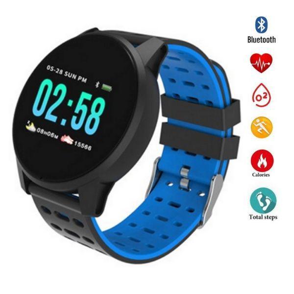 Relógio  Smartwatch w1 Android, Notificações  Bluetooth, Pressão Arterial Frequecia Cardiaca- Preto
