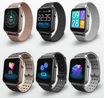 Relógio SmartWatch y6 Pro Facebook Whats  Pulseira Metal Preto