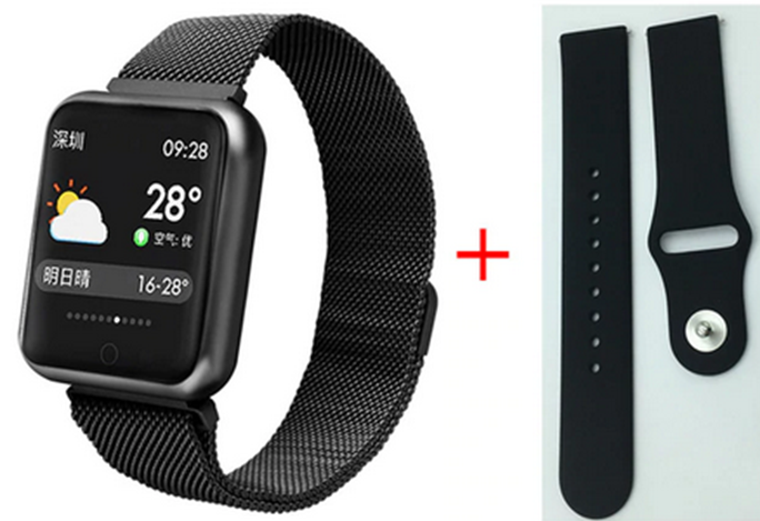 Relogio SmartWhatch P70 Pro Bluetooth Face WhatsApp Pulseira em Metal Prata