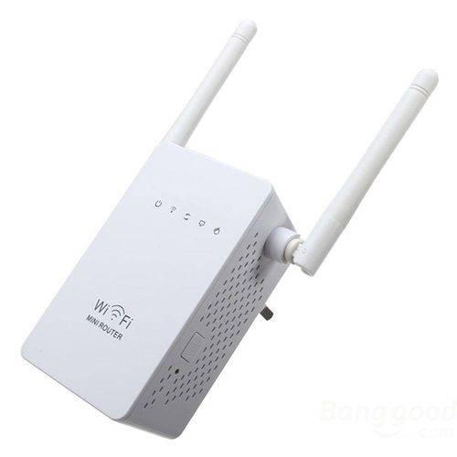 Repetidor Amplificador De Sinal Wifi Wireless 350mbps 2.4ghz 2 Antenas
