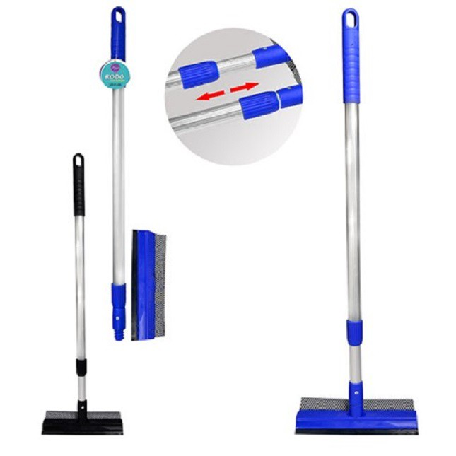 Rodo Esfregão Cabo Extensível Limpa Vidros Azulejos