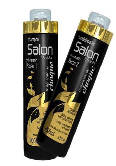 Secador de Cabelo Profissional Kemey  3500W 110V KM 5812   + Kit Salon Beauty Tratamento de Choque Shampoo e Cond 1L