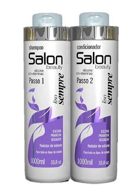 Secador  Km-6832 Dobrável de Cabelo  para viagem 127V + Kit Salon Beauty Liso Sempre Shampoo e Condicionador 1L