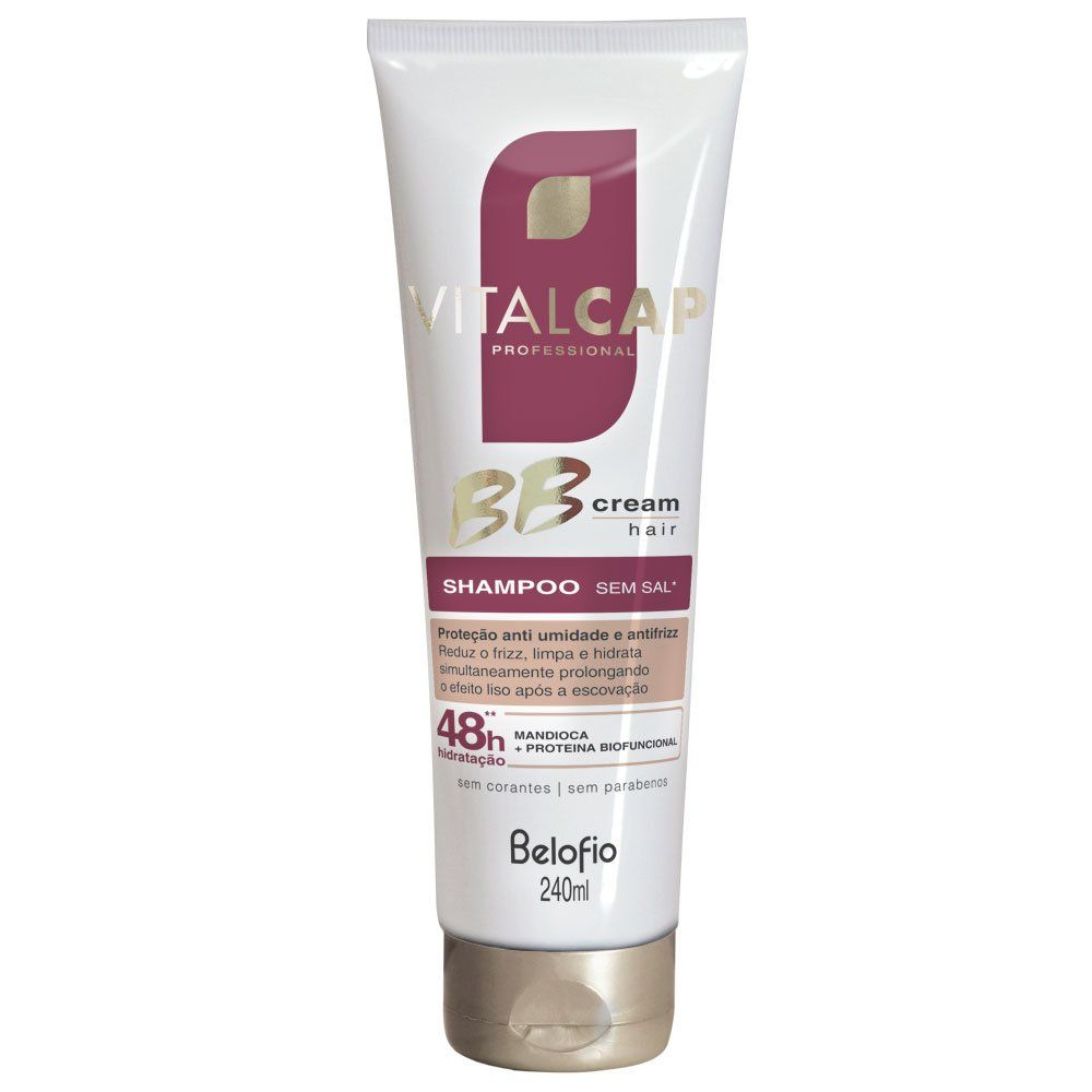 Shampoo Bb Cream Hair Prot Antiumidade-frizz VITALCAP 240ml