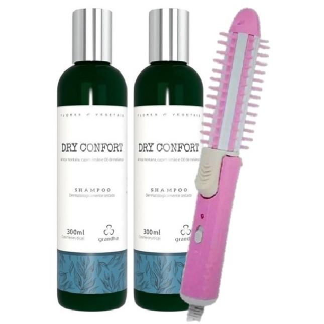 Shampoo Grandha Dry Confort Com 2 unidades e Escova