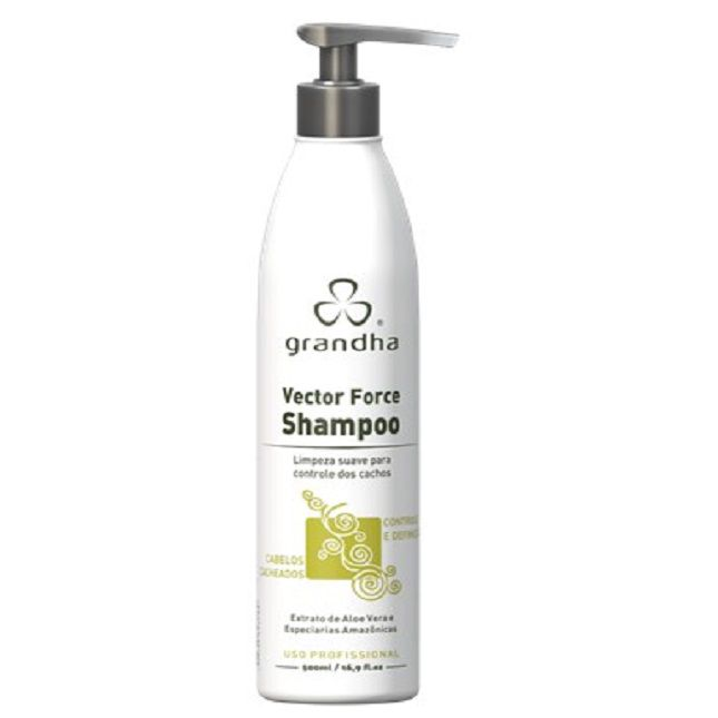 Shampoo Grandha Vector Force  para Cachos Low Poo 500ml
