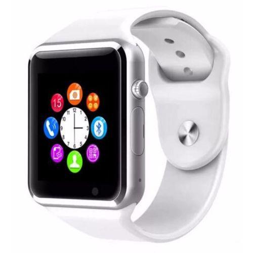 Smartwatch  A1 Android WhatsApp Face Bluetooth Branco - Caixa Som Bluetooth