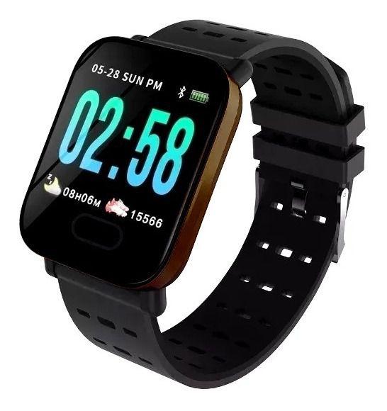 Smartwatch A6 Sport  Android e IOS Dourado Lançamento