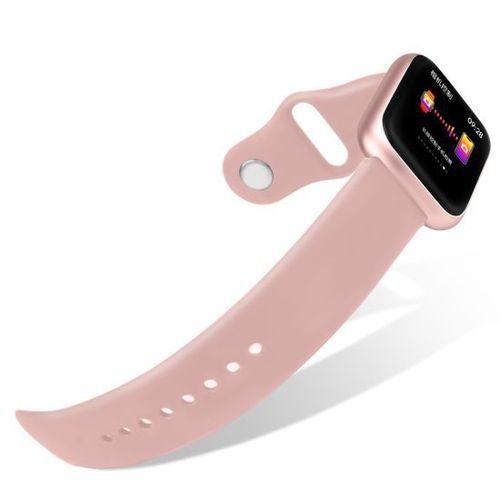 Smartwatch feminino P70 com pulseira em metal e silicone Rosa