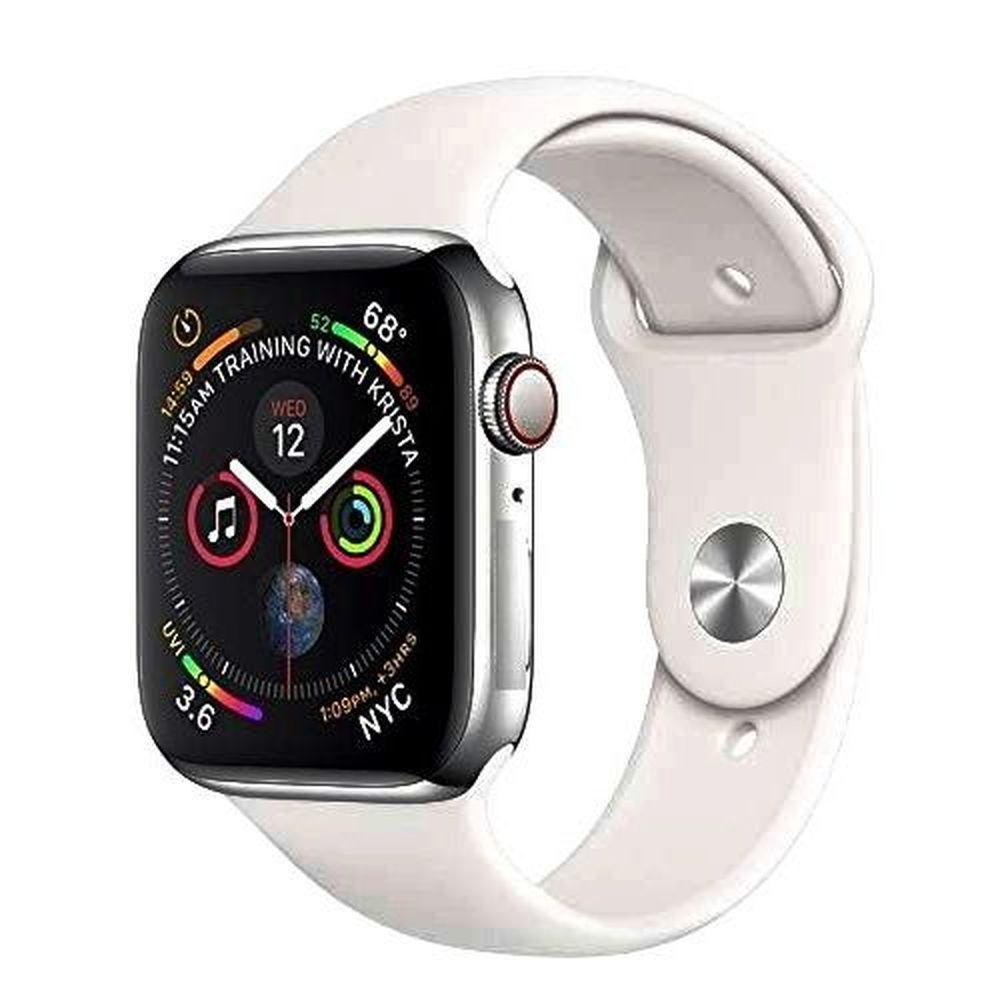 Smartwatch Iwo 8 44mm Relógio Inteligente Serie 4 Notificações Bluetooth Monitor Cardíaco - Prata