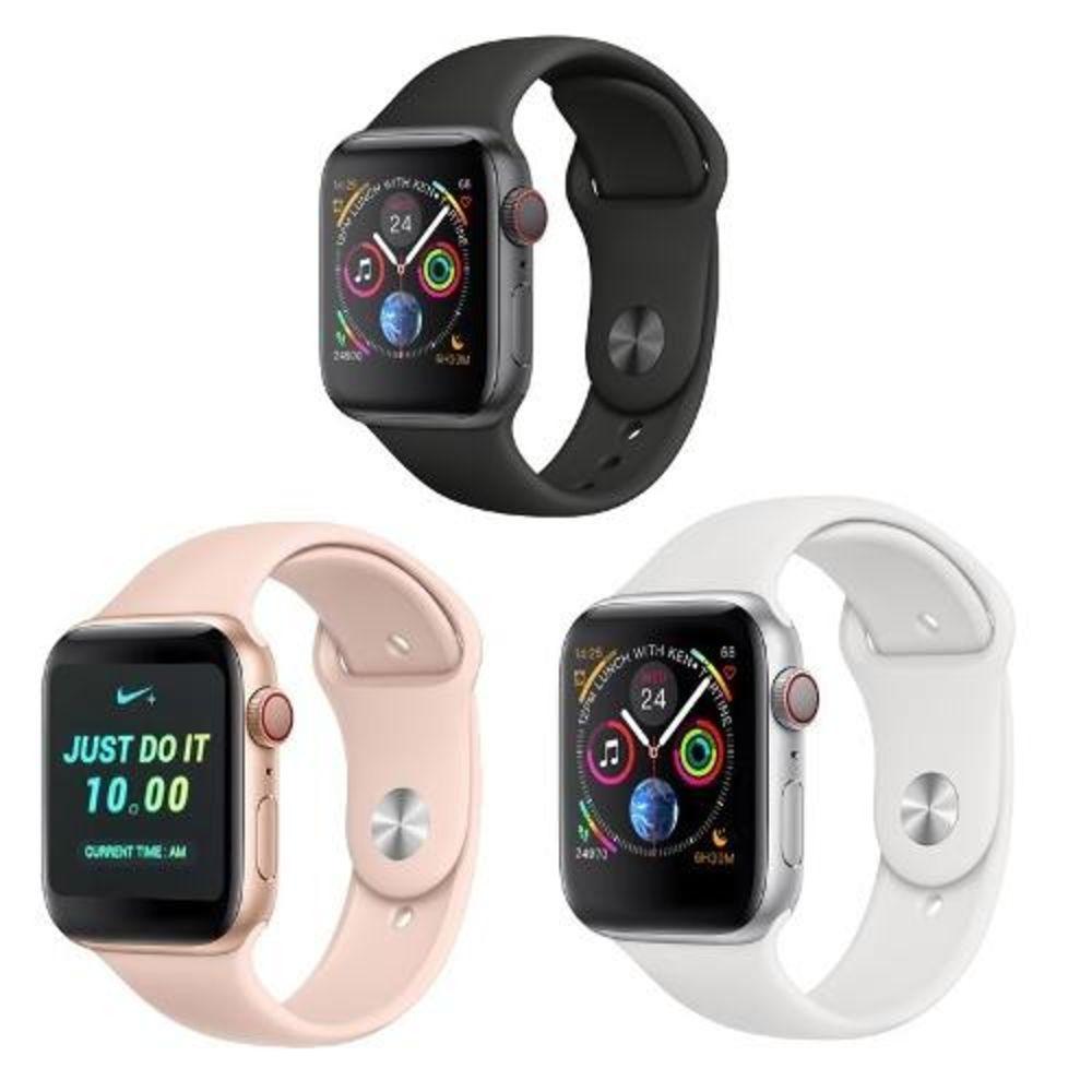 Smartwatch Iwo 8 44mm Relógio Inteligente Serie 4 Notificações Bluetooth Monitor Cardíaco - Rosa