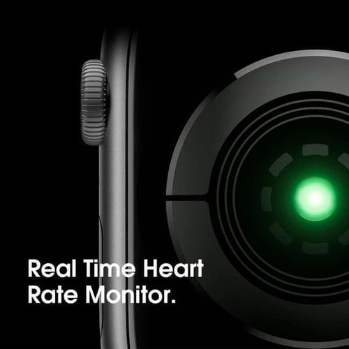Smartwatch Iwo 8 44mm Serie 4 Notificações Bluetooth Monitor Cardíaco - Preto