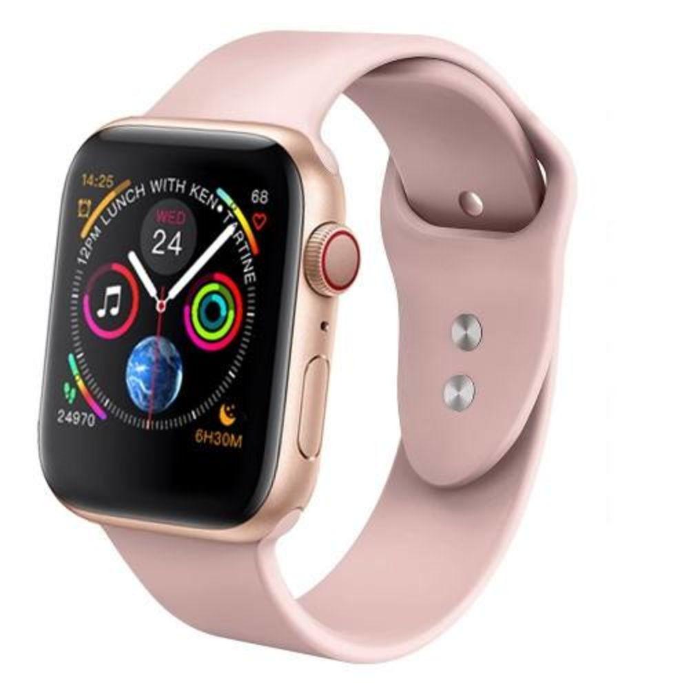 Smartwatch Iwo 8 44mm Serie 4 Notificações Bluetooth Monitor Cardíaco - Rosa