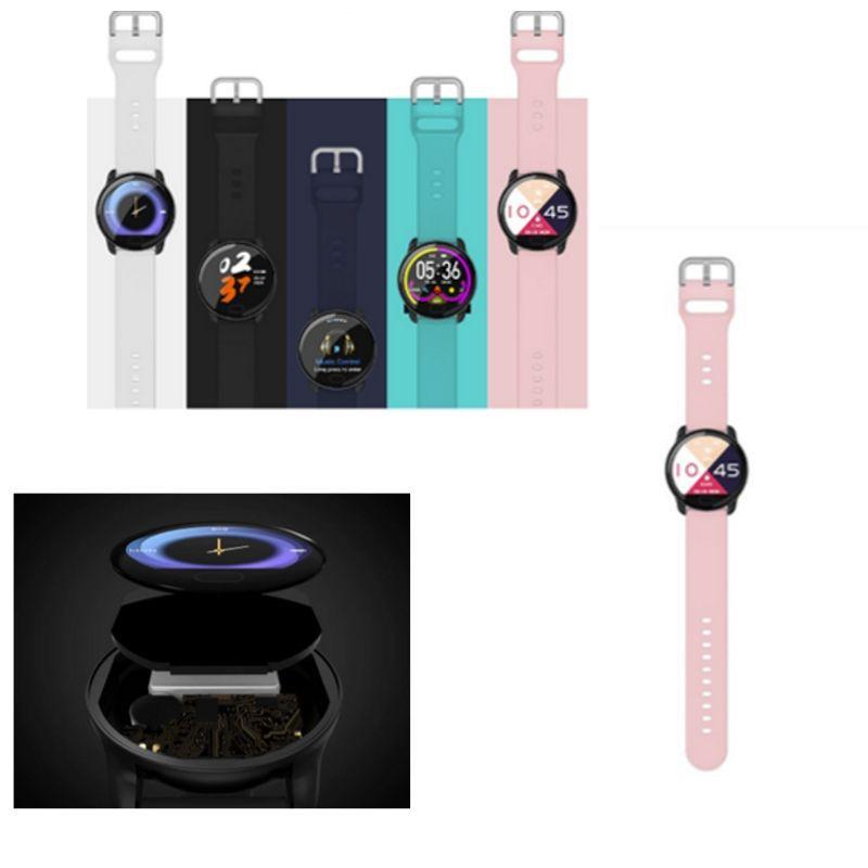 Smartwatch k9 Medidor de Coração e Pressão Bluetooth e Musica Rosa